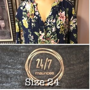 Tops - Maurice's 24/7 plus size 24